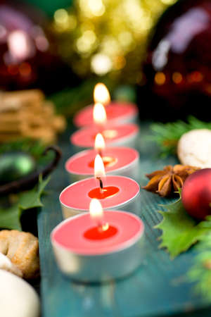 perfumed candle: Christmas time, candles