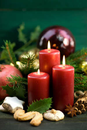 Christmas time, candles Stock Photo - 16013957