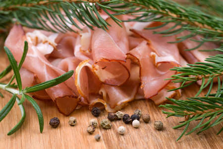 cured: Cured ham
