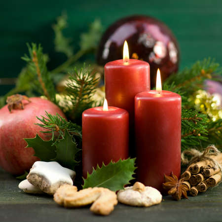 perfumed candle: Christmas time