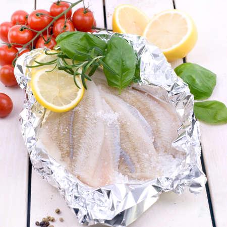 plaice: Fresh plaice fillet