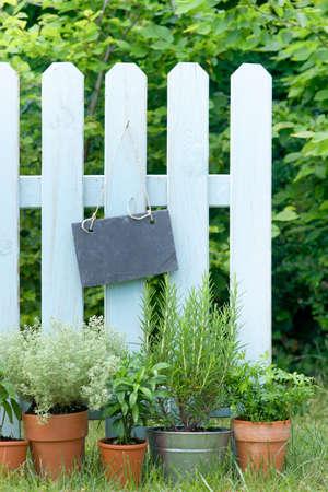 Slate on garden fence