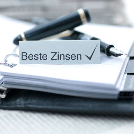 feasibility: Label with german text  Best interest rate