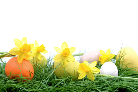easter nest: Easter background Stock Photo