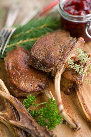 Chop of venison Stock Photo