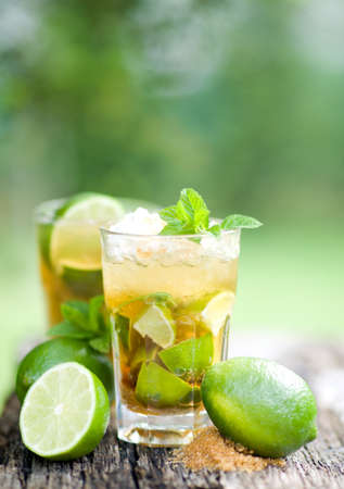crushed: Fresh caipirinha Stock Photo