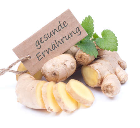 Label with german text  healthy nutrition Stock Photo - 18083074