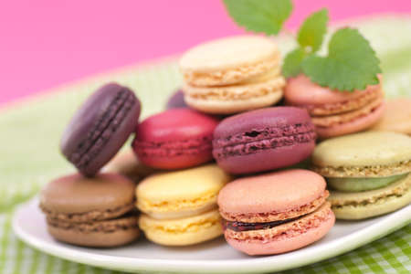 Fresh macaroons photo