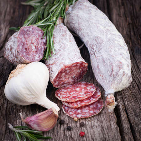 Air dried salami Stock Photo - 18707161