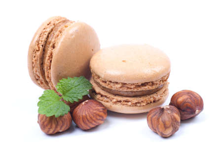 confections: Macaroons with hazelnuts
