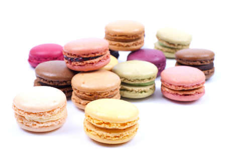 Several macaroons photo