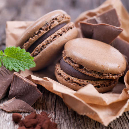 Macarrones con chocolate Foto de archivo - 18571775