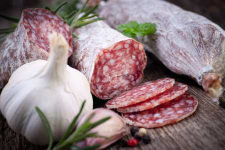 Air dried salami  Stock Photo - 18571602