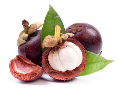 mangosteen: Fresh mangostan Stock Photo