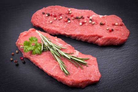 beefsteak: Raw beefsteak Stock Photo