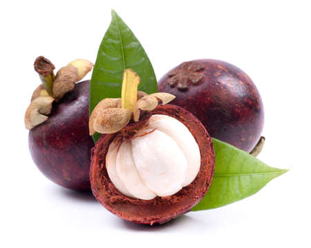 Fresh mangosteen fruit  Stock Photo
