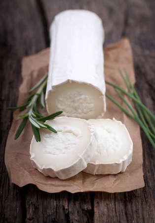 goat cheese: Fresh goat cheese  Stock Photo