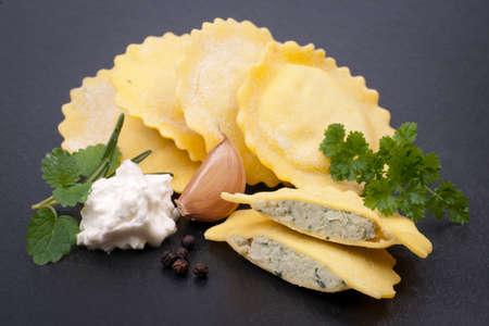 Fresh handmade pasta Standard-Bild