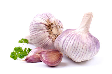 clove of clove: Fresh garlic Stock Photo