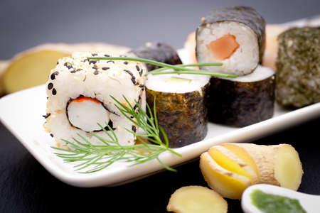 Fresh sushi photo