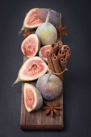 purple fig: Fresh figs and spices