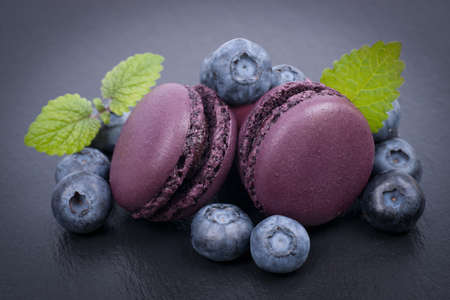 Macaroons, blueberry