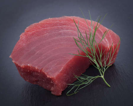 Fresh tuna steak photo