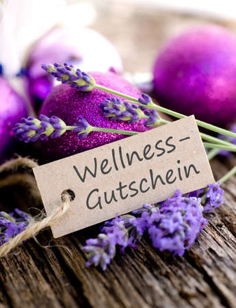 tex: Label with german tex  Wellness coupon