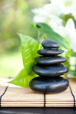 massage symbol: Stone stack