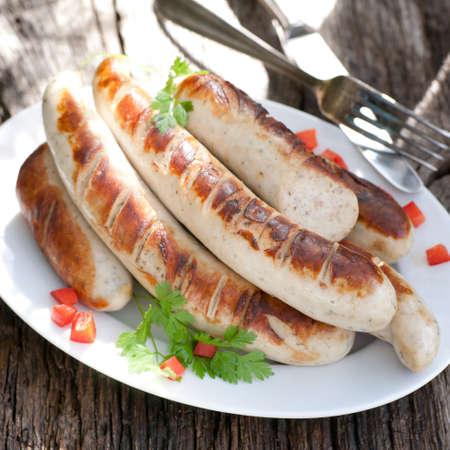 Fried sausage Banque d'images