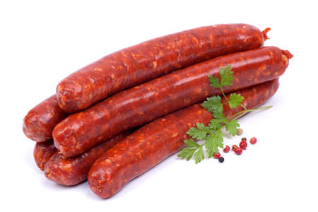 Frying sausage with lamb
