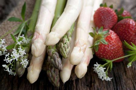Fresh asparagus Banque d'images