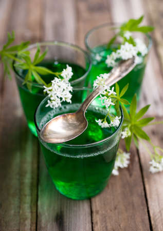 gelatin: Gelatin dessert with woodruff