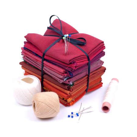 kit de costura: Suministros Foto de archivo