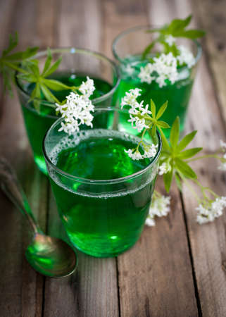 sweet woodruff: Gelatin dessert with woodruff
