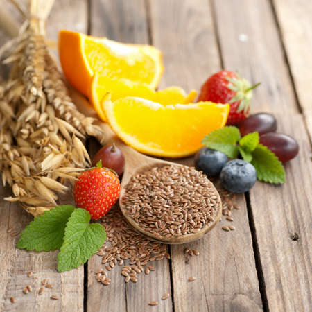 laxative: Linseed and fruits