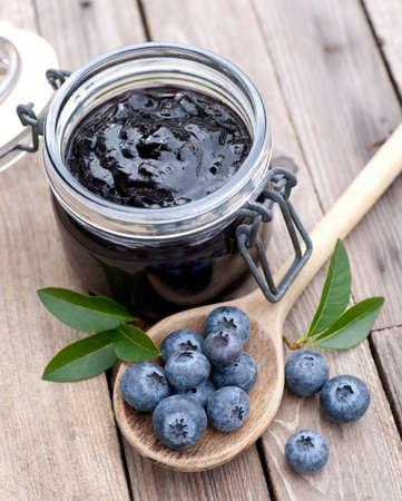 blueberry jam: Blueberry jam Stock Photo