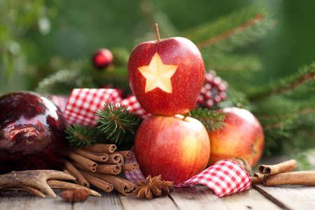 Christmas apples Banco de Imagens