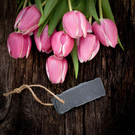 Tulips, label