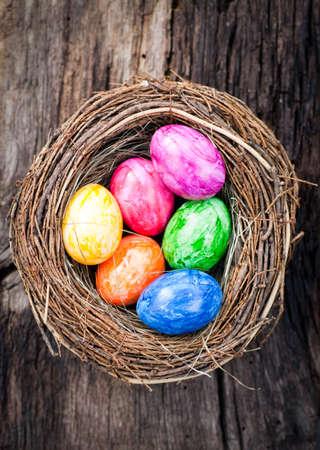 Easter eggs in the straw Zdjęcie Seryjne