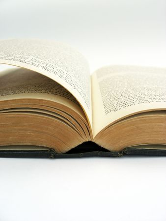 open book on a white background Stock Photo - 1849837