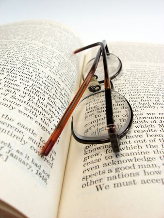 photo of a book and glasses Stock Photo - 1849874