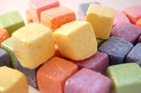 colourful cubes on a light background photo