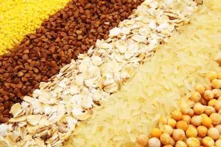 healthy grains: seeds Stock Photo