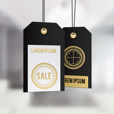 seasonal: Ready-to-use gift tags. seasonal badge design Illustration