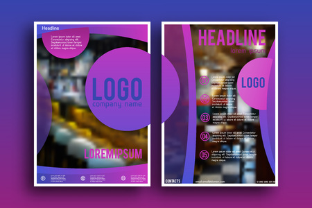 page layout: Brochure design Layout  template,, Front page and back page, material style poster. Magazine page.