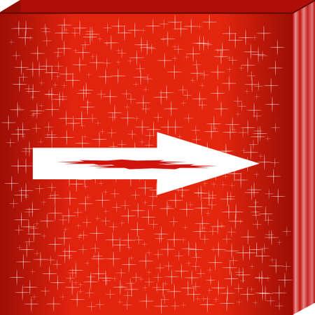 designator: La flecha en la textura de fondo rojo