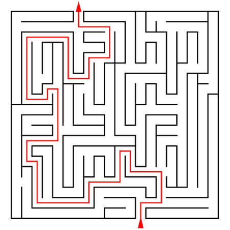 prompt: Labyrinth with a prompt on a white background