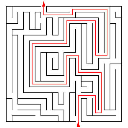 conundrum: Labyrinth with a prompt on a white background