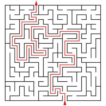 teaser: Labirinto con un prompt su uno sfondo bianco